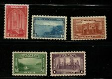 Canada Sc 241-45 1938 higher values views stamp set mint
