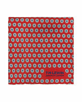 T.M.Lewin Mens Red Geometric Flower Spot Silk Pocket Square