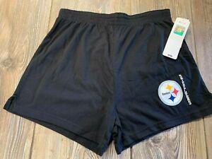 NWT Womens Pittsburgh Steelers Cute & Sexy Black Logo Sleep/Casual Shorts Medium