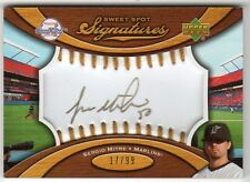 SERGIO MITRE 2007 SWEET SPOT SIGNATURES GOLD INK & STITCHING #17/99
