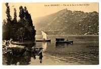 CPA 73 Savoie Lac du Bourget Vue sur le lac et la Dent du Chat animé bateaux