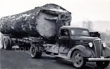 CHEVROLET LOGGING TRUCK HUGE 1 LOG LOAD 1939 NW PHOTO