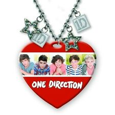 "ONE DIRECTION 1D OFFICIAL MERCHANDISE* 32"" HEART NECKLACE 5 HEAD SHOTS BRAND NEW"