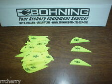 "36 Bohning 2"" Blazer Arrow Arrows Vanes Archery Neon Yellow fl flourescent"