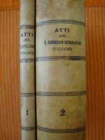 GEOGRAFIA-ATTI V CONGRESSO GEOGRAFICO ITALIANO-NAPOLI 1904-DUE VOLUMI