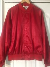 "Vintage Rare 1980's ""Grand Ole Opry ""Red Satin Jacket Xl Country Music Nashville"