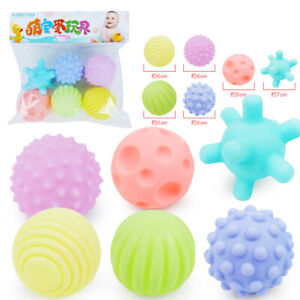 Children Play Ball Tactile Senses Soft Stress Balls Baby Toy Kids Free Shipping