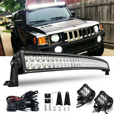 "For Hummer H3 Upper Roof Windshield Brackets 50.5"" 288W LED Light Bar Combo Kit"