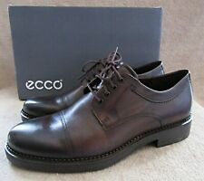 ECCO Newcastle Toe Cap Derby Cocoa Brown Leather Shoes US 10 - 10.5 M EUR 44 NWB