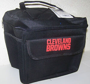 """Cleveland Browns Insulated Lunch Bag 12 Pack All Star Bungie Cooler 10 x 8 x 8"""""""