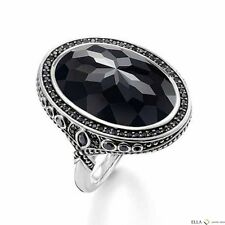 NEW Genuine Thomas Sabo Sterling with Black CZ set Ring TR2021  Size 54 £275