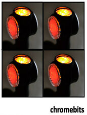 4 X 12V 24V AMBER RED WHITE SIDE OUTLINE MARKER LED LIGHTS TRUCK TRAILER VAN