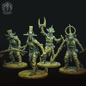 Bestiarum Miniatures: Scrap Berserkers (4 Modelle) (Swamp Scrappers of Allstein)