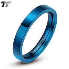 TT 2mm Slim Stainless Steel Polished Band Ring Pinky R119