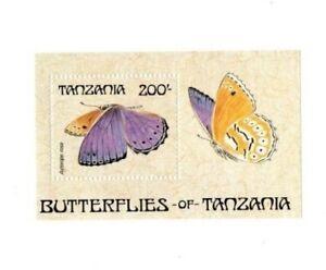 Tanzania - 1988 Butterflies - Souvenir Sheet - MNH