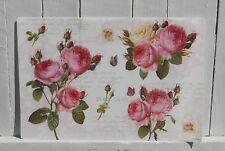 Platzdeckchen Nostalgie Rosen Post Romantik Shabby Tischdeko Kunststoff 45x30cm