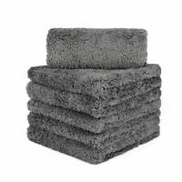 6PCS Thick Microfiber Plush Towel Cleaning No-Scratch Rag Polishing Detailing