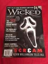 WICKED - Premiere Issue 1999 Horror Mag Gaiman/King/50 top horror movies
