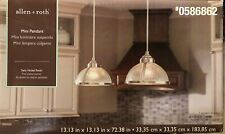Allen + Roth CP230SN Satin Nickel Mini Vintage Clear Glass Dome Pendant