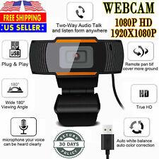1080P Webcam Auto Focusing Web Camera HD Cam Microphone For PC Laptop Desktop
