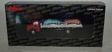 Schuco Piccolo Mercedes L322 4x2 Plano Cama + 2 Messerschmitt Cabri en 1:90