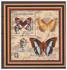 0483 Mozambique 2002 Vlinders Butterflies Scouting boy-scout S/S Mnh imperf