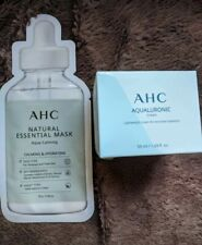 AHC AQUALURONIC Cream 50ml Size & AHC Face Mask Both Brand New & Sealed