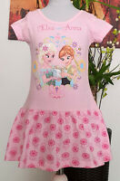 Kinder Mädchen Kleid Gr. 104-134 Diseny Frozen Elsa  Sommerkleid Kinderkleid