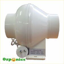 """Inline Exhaust Fan 4""""/100mm 23w Hydroponics Ventilation Duct Blower"""
