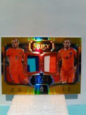 2017-18 Panini SELECT Soccer Dual Patch Gold 02/10 Wesley SNEIJDER & Daley BLIND