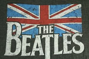 The Beatles XL T Shirt Apple Corps British Flag