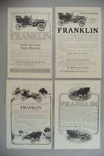 Franklin Automobile LOT of 4 PRINT AD - 1905 ~~ auto, motor car