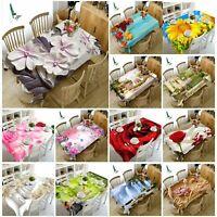 3D Sunflower Emboss Flowers Tablecloth Rectangular Table Cover Cloth Home Decor