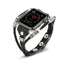 Marval Power Leather Wrist Strap Apple Watch Band for iWatch Series 4 40/44mm