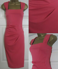 NEW Dorothy Perkins Coral Bodycon Shift Dress Occasion Party Office 6-18 £45