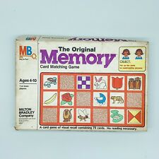 MB The Original Memory Card Matching Game 1980 Vintage #4664 Complete USA Made