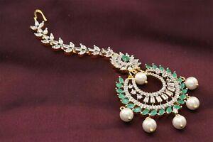 Wedding Mang Tikka Cubic Zirconia Hair Earrings Fashion Jewelry 14 GT 1