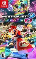 Mario Kart 8 Deluxe (Nintendo Switch Video Game, 2017) NEW!!