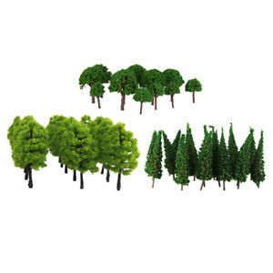 120x Model Trees 1:100 HO OO Scale 3 Types Landscape Wargame Scenery Layout