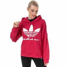 Para Mujer Adidas Originals Regular Fit caída del hombro Sudadera Con Capucha en ROSA