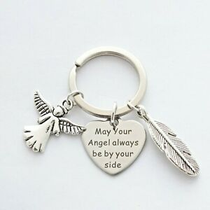 """""""May Your Angel always be by your side"""" - Guardian Angel - Bag Charm - Keyring"""