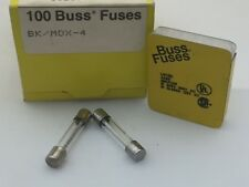 (5 pcs) MDX-4 Bussmann, 4A 250vac, Glass Fuse, Slow Blow