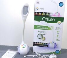 LED Ottlite Desk Lamp Colour Changing Touch Technology With Original Box -White