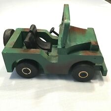 Handmade Army Jeep Camo Design, Moveable Windshield and Wheels