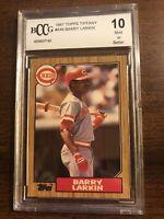 1987 Topps Tiffany Barry Larkin Rookie #648 Cincinnati Reds HOF Beckett 10 MINT