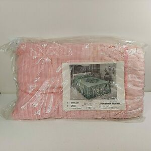 Pink Chenille Candlewick FULL Bedspread Cotton/Rayon NEW NOS Sealed 8603 Vintage