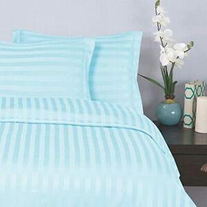 Laxury USA Bedding Item-All Size 100% Egyptian Cotton 1000 TC Aqua Blue Stripe
