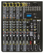 SKP PRO Audio VZ-12.4 Mixing and Recording Console, USB Port, Mp3 Player