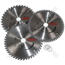 Circular Saw Blades 160 mm x 20 mm TCT 36 48 60 tooth Triple Pack Fits Metabo