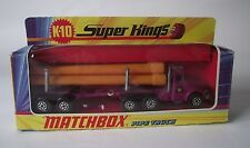 Matchbox Super Kings K-10 Articulated Trailer with Interlocking Pipes - Boxed